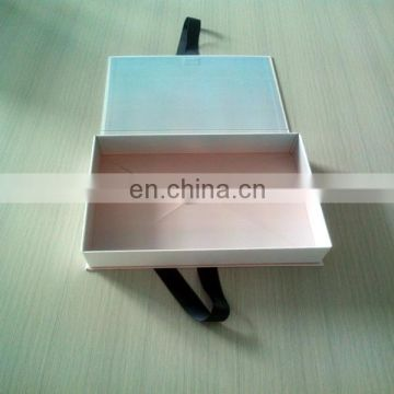 High Quality Cardboard Gift Folding Design Paper Box Packing With Ribbon For Sweater Packing