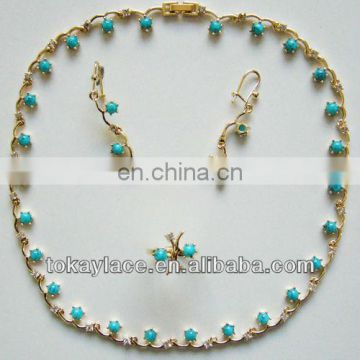 2013 new hot sale African gold jewelry set wholesale