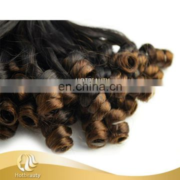 Hot Beauty double drawn 8A top grade funmi rose curl natural darling ombre hair