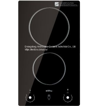 Black ceramic glass (2-4 COOKING ZONES)