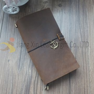 Rifillable Leather Journal Notebook, Vintage Cowhide Leather Writing Notebook, Leather Diary Book Gift