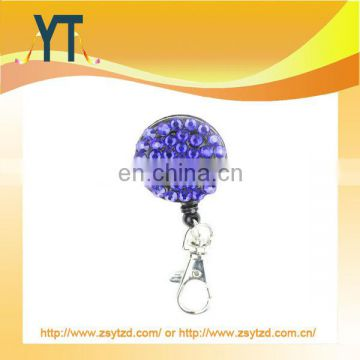 Rhinestone Bling Retractable Badge Reel,Yoyo Clips For Id Card,Plastic Badge Holder