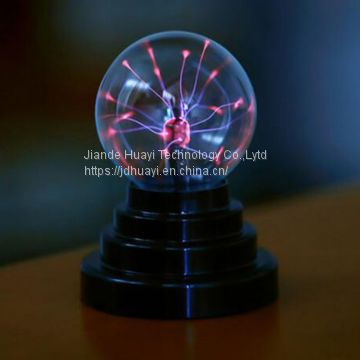 3/4/5/6/8 Inch Colorful Glass Wholesale Festival Gift Static Plasma Lamp Plasma Light