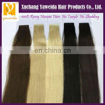 High quality double drawn keratin tape hair extensions wholesale factory price