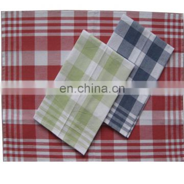 checked style with custom logo tea towel for promotional use