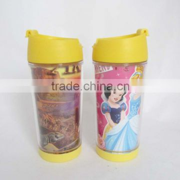 Personalized plastic kids mugs kids drinking cup thermos mug