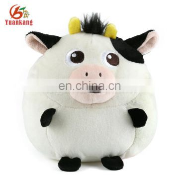 2017 New Style Lovely Wholesale Cheap Soft Cute Cow Plush Stuffed Animal Toy Cow