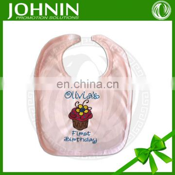 nice design good quality cheap 100% cotton custom logo baby bib