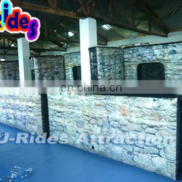 Broken Wall Inflatable Paintball Bunker For Game