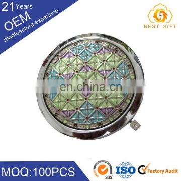 Logo engraved folding makeup mirror, bulk mirror for selling