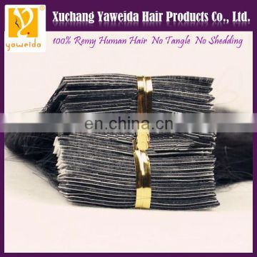 High quality double drawn tape hair extensions remy hair skin weft