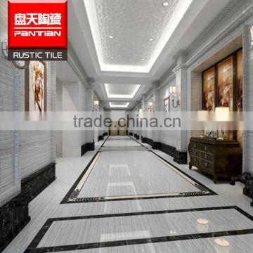 Chinese Promotion Polished Diamond White Marble Stone Floor Design Tile Tiles Price