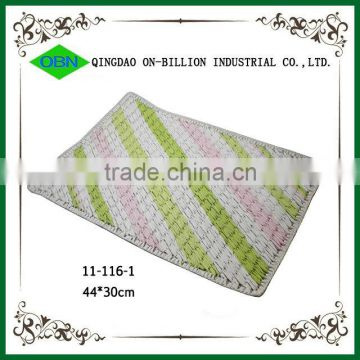 2014 new cheap woven recycled restaurant custom paper placemats