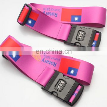 single custom personalized luggage strap belt