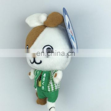 Factory custom creative mini plush toy cat cute keychain doll