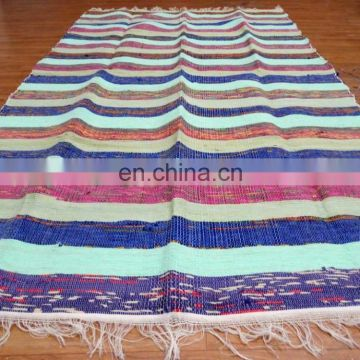 Hand woven Handmade Chindi Rugs Rag Indian Cotton Dari