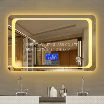 New sliver makeup wall mounted modern smart led mirror