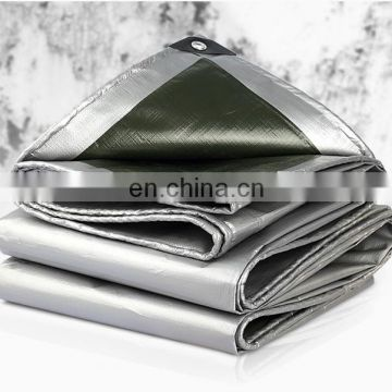 silver/green color pe tarpaulin for coverage use