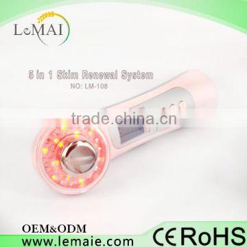 hifu beauty machine 5 in 1 Ultrasonic Photon Therapy Ion