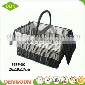 Factory direct provide hand woven food storage plastic picnic hamper baskets