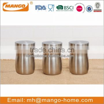 Large stainless steel metal plain spice storage canisters