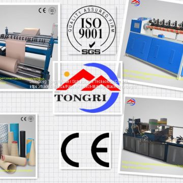 Semi-automatic spiral paper tube production line