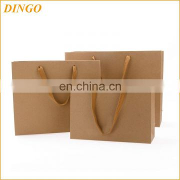 custom printing brown kraft paper bag with paper handle