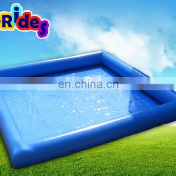 Factory price customized dark blue inflatable swimming water pool For indoor