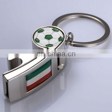 PROMOTIONAL NICE DESIGN FOOTBALL WHISTLE KEY CHAIN