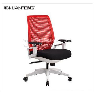 Colorful flexible nylon back office chair with armrest office stool executive chair