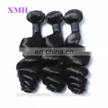 XMH 100 Unprocessed wholesale virgin brazilian hair extension black hair products, wholesale virgin hair vendors