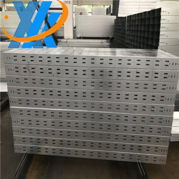 Aluminum perforated cable tray with cover