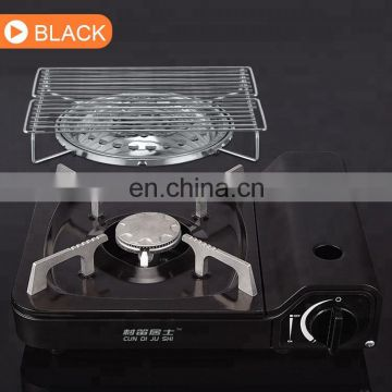 CE ROHS certificate of portable camping gas stove with mini gas stove