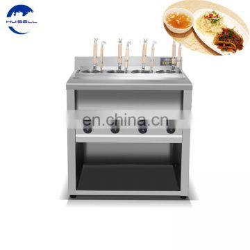 6 & 12 Baskets Noodle Cooking Equipment with Cabinet