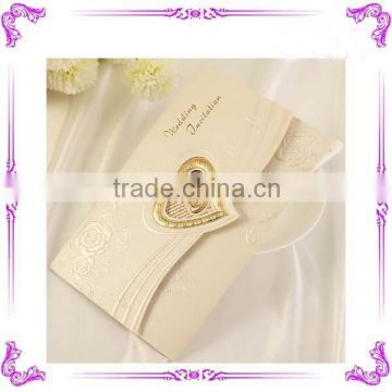 best selling love theme and Wedding Card Card Type Wedding invitation card