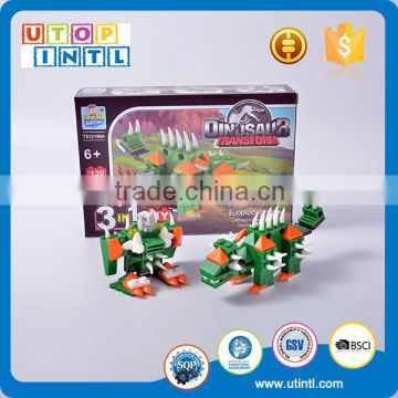 DIY Dinosaur World building block,5 styles assorted.Collecting 5 full sets of blocks to build a bigger T-Rex.                                                                                                         Supplier's Choice