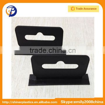 Flat Black Euro Hole Plastic Hang Hooks For Display Packaging Box or Bag                                                                         Quality Choice