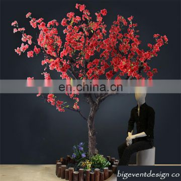 newest wedding centerpiece red cherry blossom tree indoor artificial cherry blossom tree