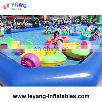 hot sale kids or adults hand aqua water plastic pedal paddle handle boats for sale