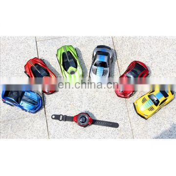 High speed plastic children smart watch rc car toys sound control