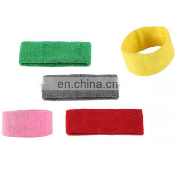 Custom logo cotton terry elastic headband adult