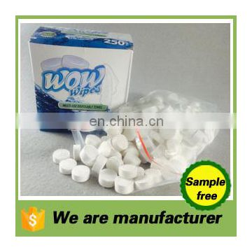 spunlace nonwoven compressed mini coin magic for one-time cleaning square towel