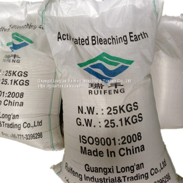 activated bleaching earth use for oil refining and decoloring