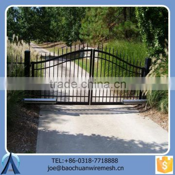 New Design Black Cheap Sliding Gate For Garden Factory