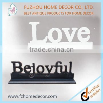 wood laser cut words with frame for home decor of decorative words