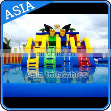 Eagle water slide for climbing soprt / Inflatable Water Playground for sale