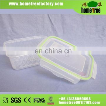 2017 Hot Sell 1.1L Rectangle Airtight Clear Diamond Food Contaiiner Fresh Keeping Box