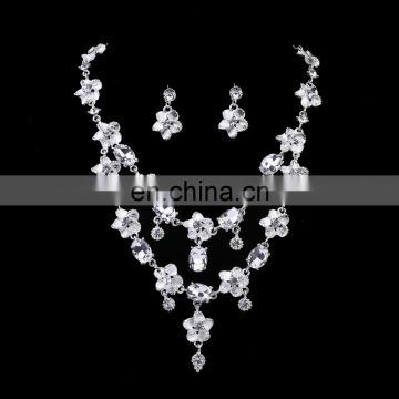 European luxury fashion jewelry women statement crystal fashion necklace set