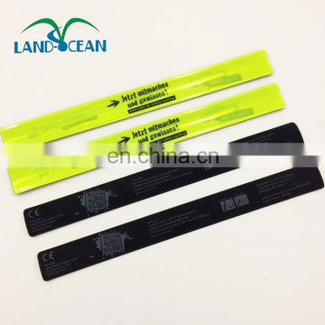 Wholeslae PVC Reflective Custom Slap Bracelets