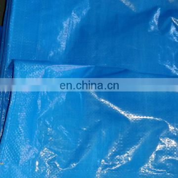 blue/white color   waterproof finished pe tarpaulin with eyelet and rope reinforced